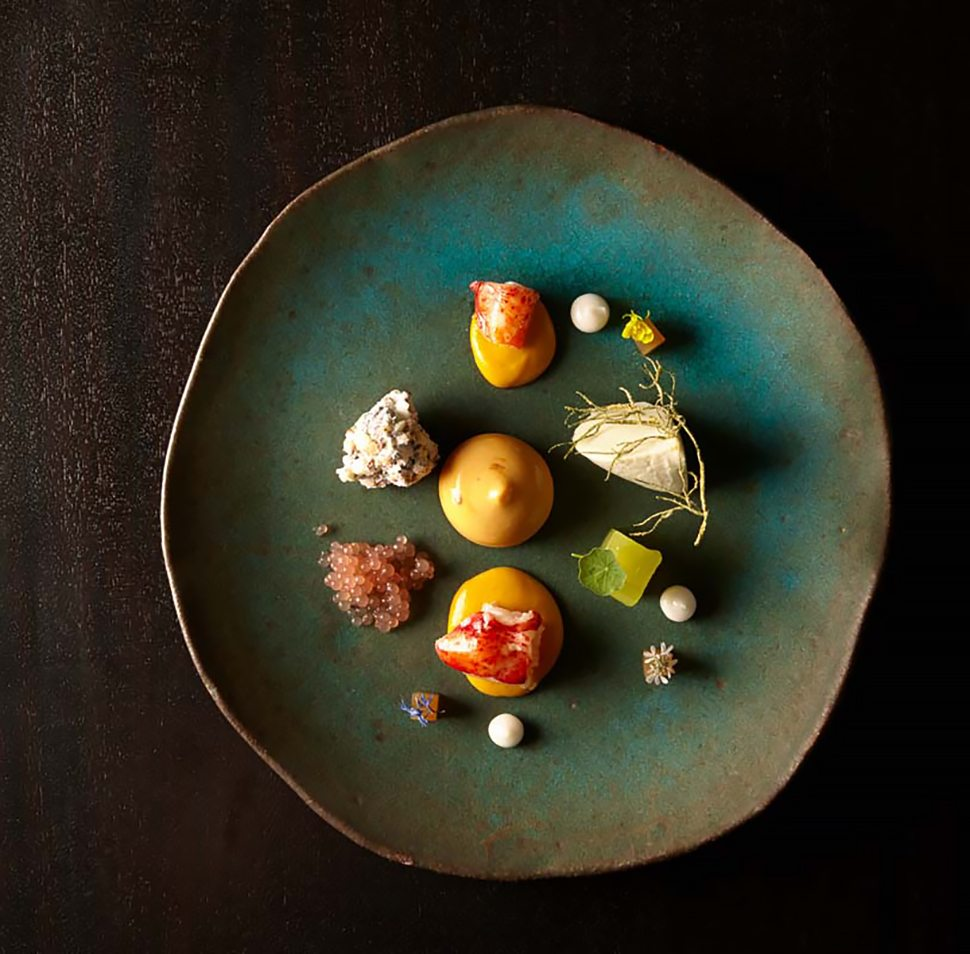 Lobster, curry, earl grey, grapefruit