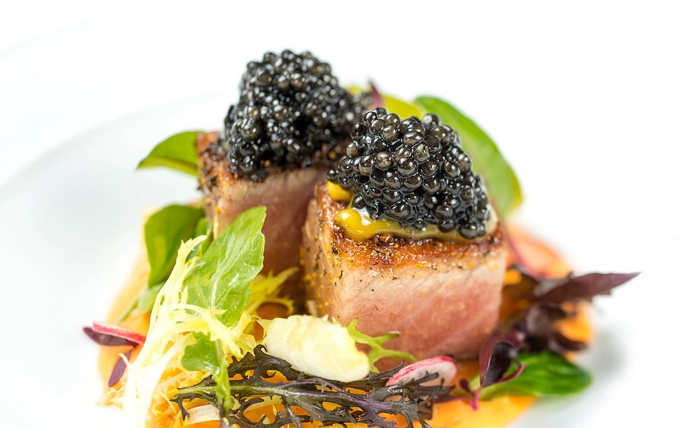 6 Seared Red Tuna_Fennel Pollen, Tomato and Citrus Emulsion, Calvisius Elite Caviar_4