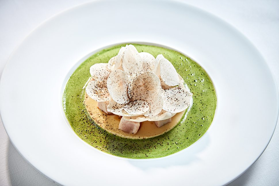 6-1 Myrtle flavoured pheasant, mushrooms and nettle sauce (1)