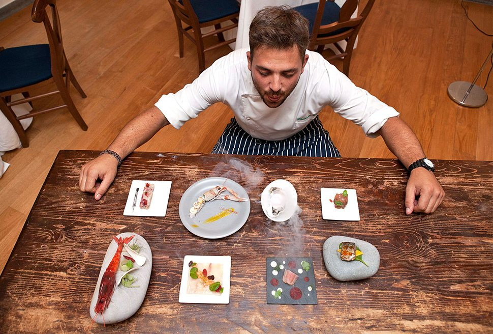 Il ristorante Acquolina, una stella Michelin, riapre al The First Luxury Art Hotel tra cultura, arte e creatività